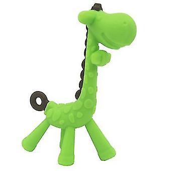 Pink giraffe design,silicone baby teether-chew toy az6619