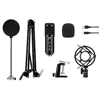 Tabell-topp Mikrofon iggual Pro Voice IGG317150 USB Svart
