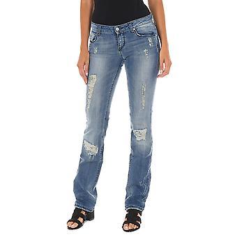 MET Mujeres Jeans 5 Bolsillos Azul