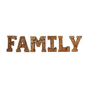 Ręcznie rzeźbione drewniane listy kwiatowe rodzina