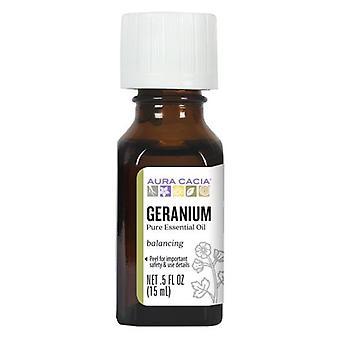 Aura Cacia Essential Oil Geranium, (pelargonium graveolens) 0.5 Fl Oz