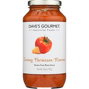 Daves Gourmet Sauce Parmsn Rmano Crmy, sag af 6 X 25 Oz