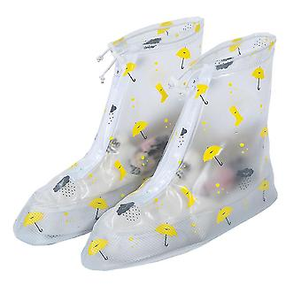 White s pvc middle tube adult rain boots cover homi2610