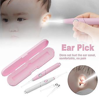 1 Set Baby Ear Cleaner Ear Wax Removal Tool Flashlight Earpick Ear Cleaning Earwax Remover Luminous