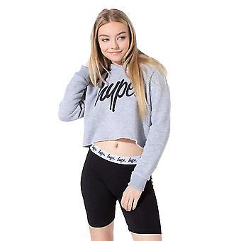 Hype Girls Script Crop Hoodie