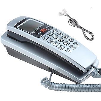 Mini vägg telefon dubbla uppringare ID DTMF / FSK Home Office Hotel Inkommande minnen uppringare ID ring tillbaka