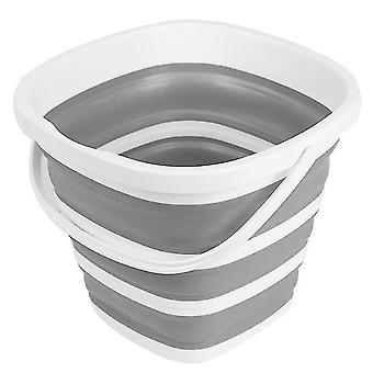 Foldable Pail Bucket Collapsible Buckets Multi Purpose,10l (2.6 Gallon)(Gray)