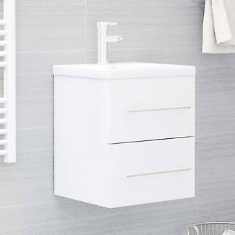 vidaXL lavabo-fond de lavabo brillant 41x38,5x48 cm panneau de particules
