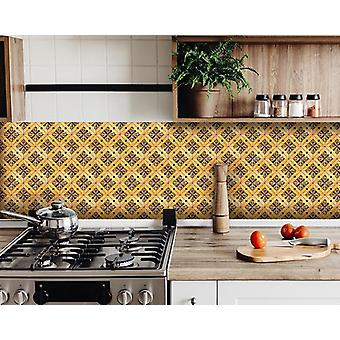 """4"""" X 4"""" Golden Rio Removable  Peel And Stick Tiles"""
