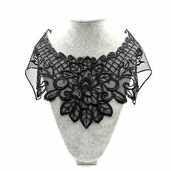 Lace Fake Collar Polyester Silk Embroidery Detachable Blouse Net Hollow Half Shirts