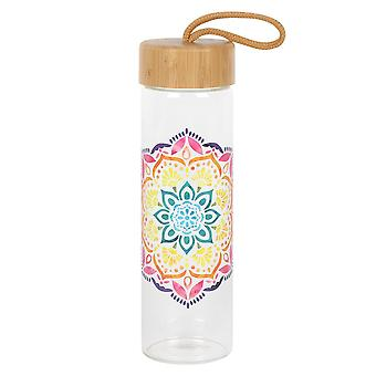 Something Different Mandala Glass Water Bottle