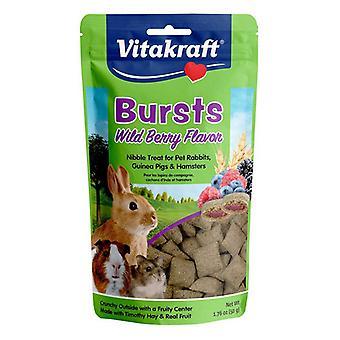 Vitakraft Bursts Treat for Rabbits, Guinea Pigs & Hamsters - Wild Berry Flavor - 1.76 oz