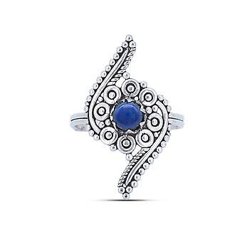 Bague Argent 925 Argent Sterling Lapis Lazuli bleu pierre (No : MRI 173-06)