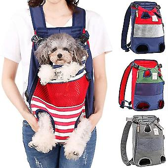 Pet carriers crates dog backpack - a pet backpack with the legs facing forward  suitable for small and medium-sized