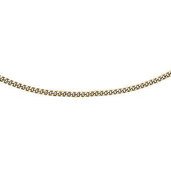 TJC 18K Gelbgold High Finish Spiga Kettenkette für Unisex Größe 20 ''