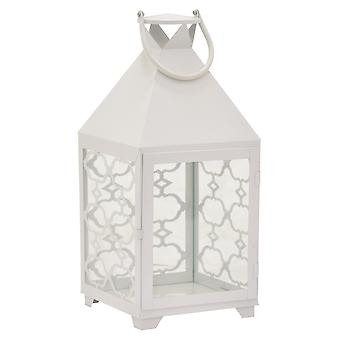 Plutus Brands Metal Decorative  Lantern in White Metal - PBTH92993
