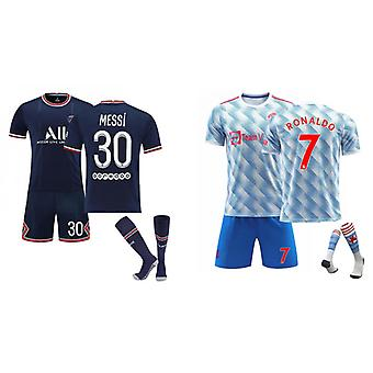 Cristiano Ronaldo Manchester United & Messi Psg Jersey (adult Suit)