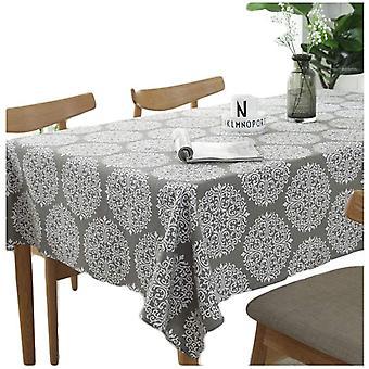 Graue Retro Tischdecke Rechteckige Tischdecken