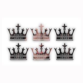 Fleur De Lis Tipped Crown Mini -käsityön kokoiset akryylipeilit (6Pk)