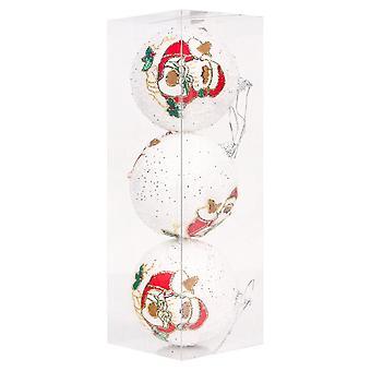 3pcs Christmas Balls Ornaments Shatterproof Christmas Tree Decoration Ball