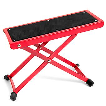 Tiger GST35 Guitar Footstool, Height Adjustable Folding Footrest - Red