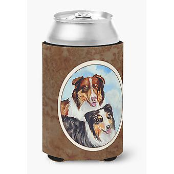 Carolines Treasures  7009CC Australian Shepherd What a pair Can or Bottle Hugger