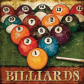 Billiards Poster Print by Mollie B (18 x 18)
