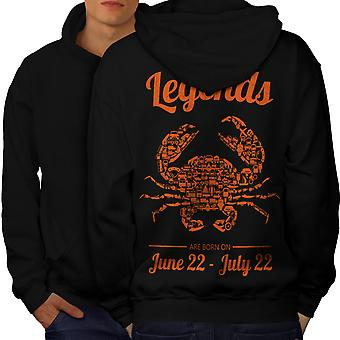 Best June July Birthday Men BlackHoodie Back | Wellcoda