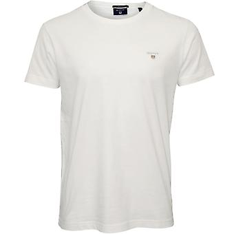 GANT Original Solid Crew-Neck T-shirt, Vit