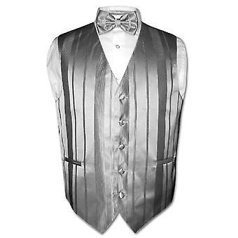 紳士服ベスト ・ ボウタイ織ストライプ デザイン蝶ネクタイを設定