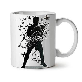 Butterfly Human Box Sport NEW White Tea Coffee Ceramic Mug 11 oz | Wellcoda