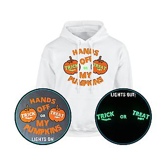Hands Off My Pumpkins Trick or Treat GLOW IN THE DARK Unisex Hoodie 10 Colours (S-5XL) by swagwear