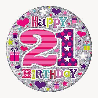 Simon Elvin Womens/Ladies 21st Birthday Giant Badge
