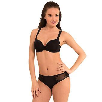 LingaDore 1400-1-2 Women's dagelijkse Lace zwart Padded BH T-Shirt beha