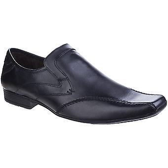 Base de Londres Mens esfera Excel Formal ceroso slip-on Loafer de sapatos de couro
