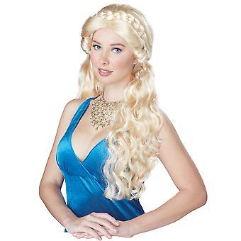 Medieval Beauty Princess Renaissance Blonde Braided Women Costume Wig