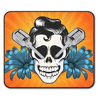 Elvis Skull  Non-Slip Mouse Mat Pad 24cm x 20cm | Wellcoda