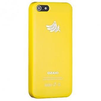 Ozaki OC537BA O! Coat fruit banana cover case iPhone 5 / 5s - yellow