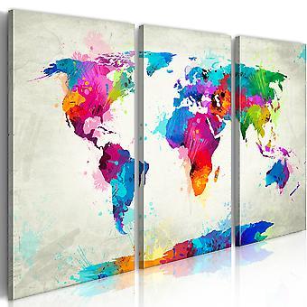 Wandbild - World Map: An Explosion of Colors