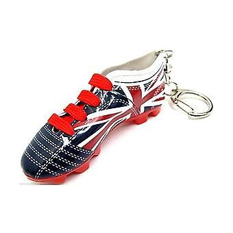 Union Jack dragen Union Jack voetbal Boot Keyring