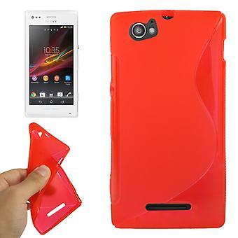 Tapauksessa TPU kännykkäkotelo Sony Xperia M C1904 C1905 punainen