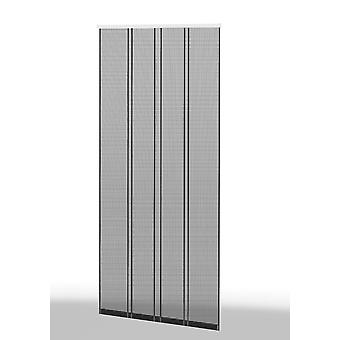 Fly screen insect protection clamp lamella curtain 4-pcs. 100 x 220 cm Profile: Anthracite / Lamella: Anthracite