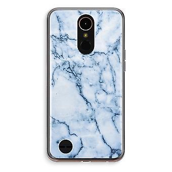 LG K10 (2018) Transparent fodral (Soft) - blå marmor