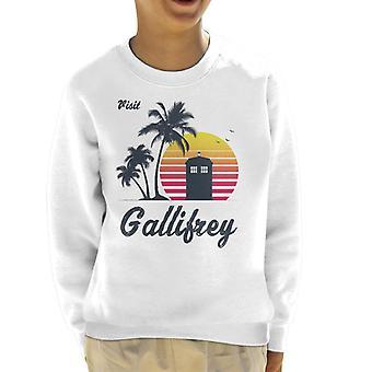 Retro Visit Gallifrey Doctor Who Kid's Sweatshirt