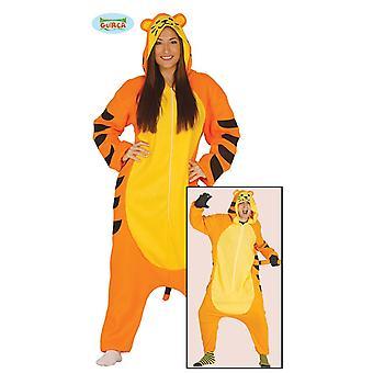 Costume di tigre per felino motocross ragazzo un pezzo striscia carnevale carnevale festa a tema adulto unisex