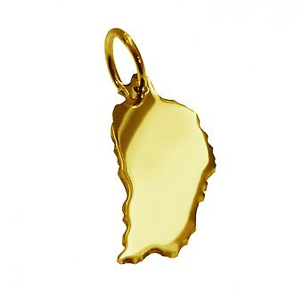 Remorque carte pendentifs en or jaune-or sous forme de DOMINIKA