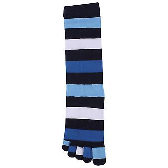 TOETOE Stripy Denim Toe Socks - Blue