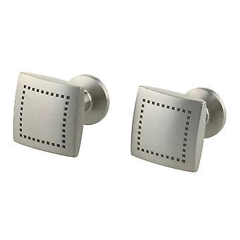 TI2 titanio Piazza Dot inciso gemelli - argento