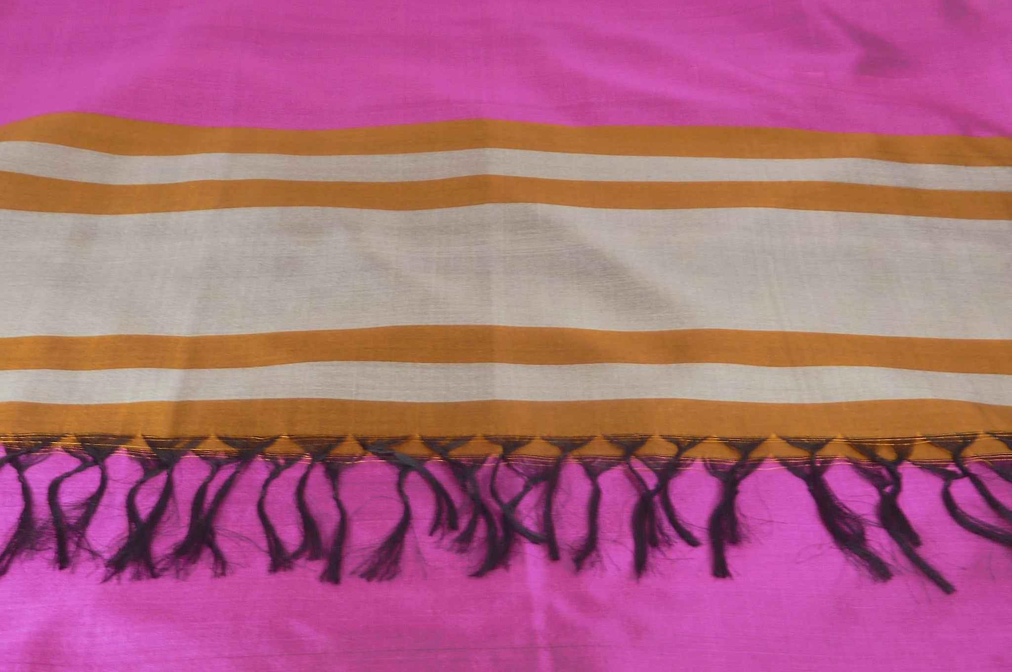 Varanasi Border Prime Silk Long Scarf Heritage Vijaya 202 by Pashmina & Silk