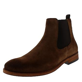 Mens Barbour Bedlington Tobacco Chelsea Suede Winter Fashion Ankle Boots